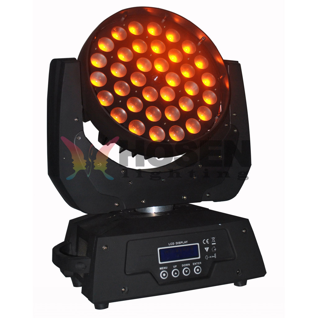 Commercial Lighting Free Shipping 36pcs 18w Rgbwa Uv 6 In 1 Wash Moving Head Led Light